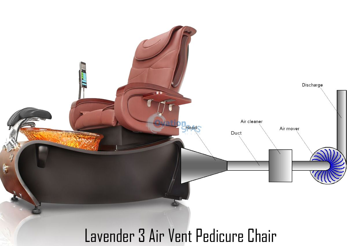 Lavender 174 3 Air Vent Pedicure Chair