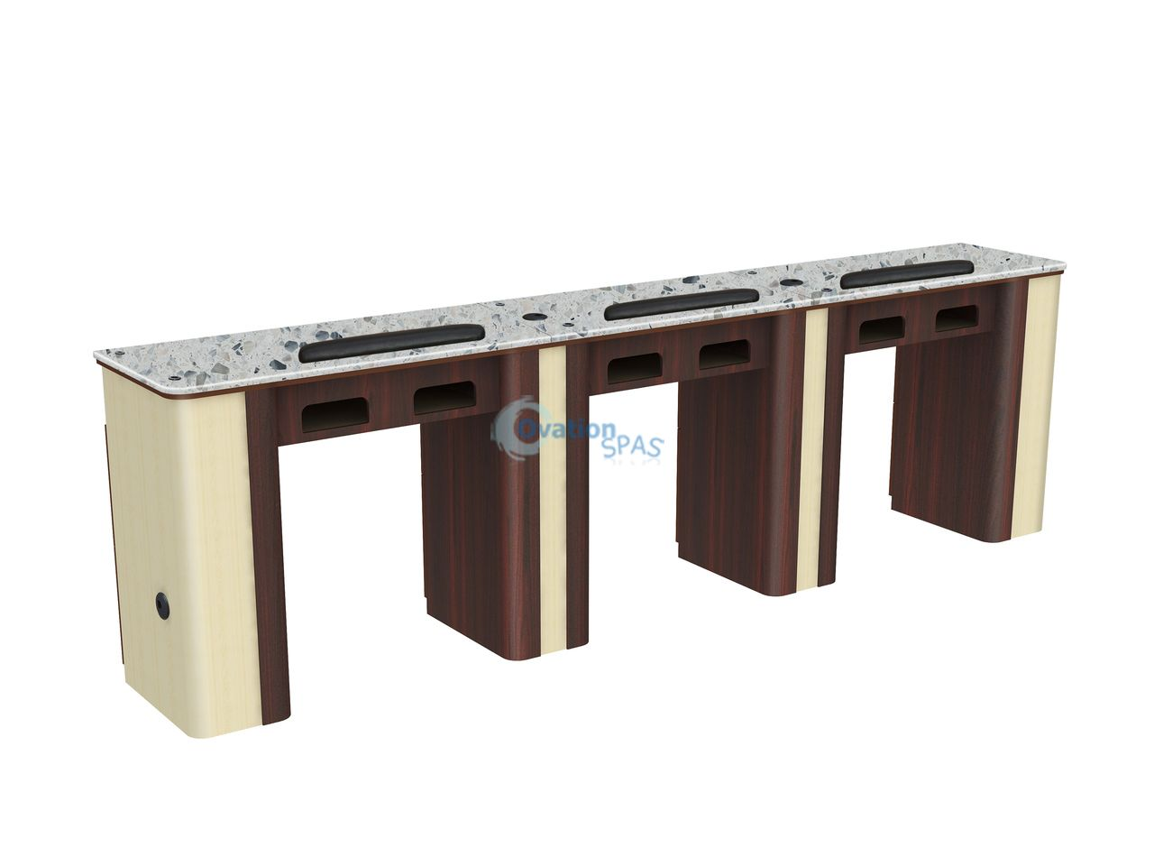 Triple Manicure Table With Uv Gel Holes