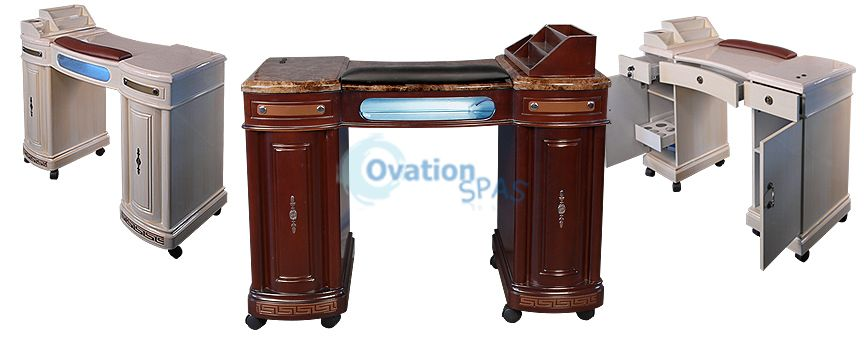 Manicure Station With Uv Gel Light Ovationspas Nail Table
