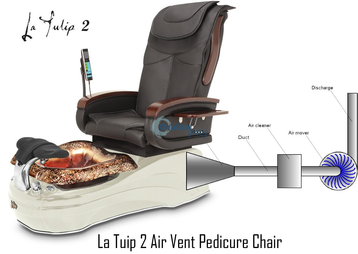 Gs La Tulip 174 2 Air Vent Pedicure Spa Chair