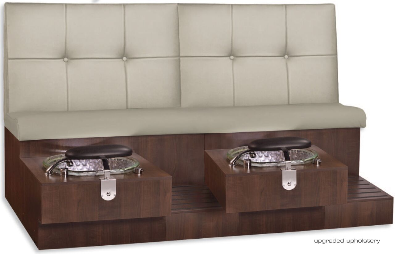 GS Tiffany® Day Spa Double Pedicure Bench