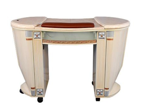 Manicure Station Nail Table With Marble Top