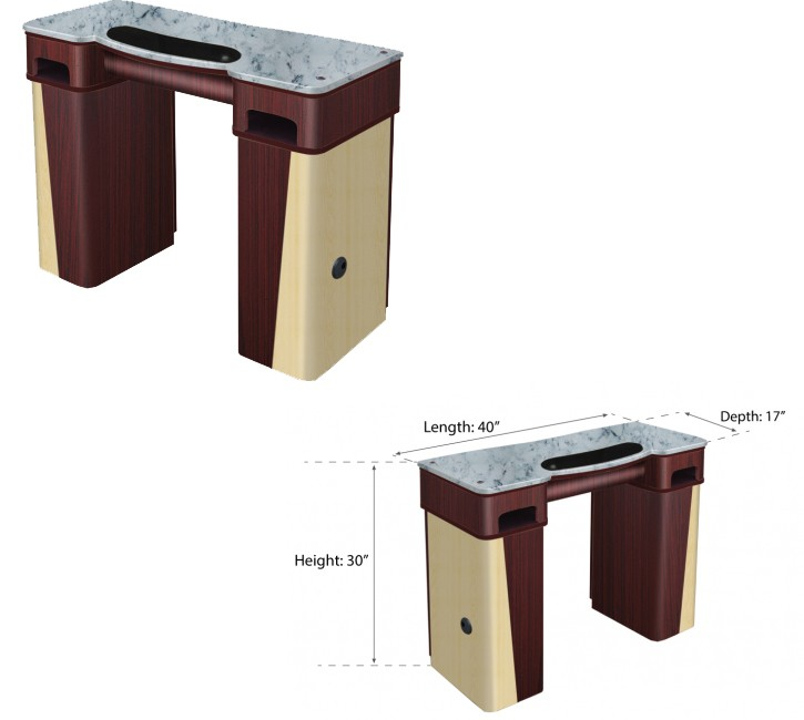 UW - NY Classic Manicure Table with UV Gel Hold (522+90)