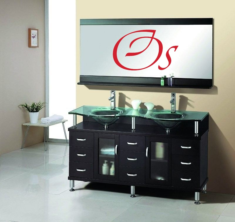 OS - Double Glass Sink #B