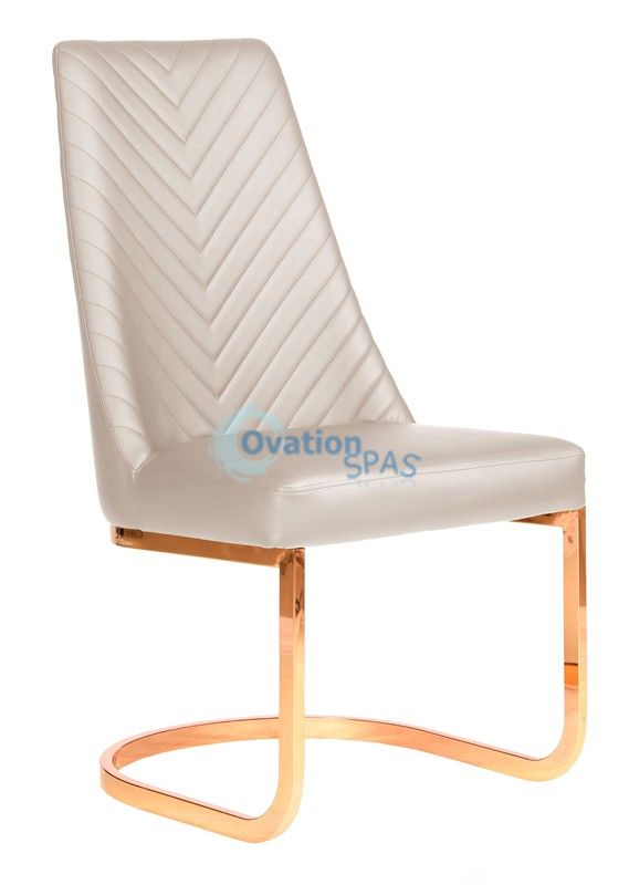 Customer Chair Khaki Chervon 8110RG - Rose Gold