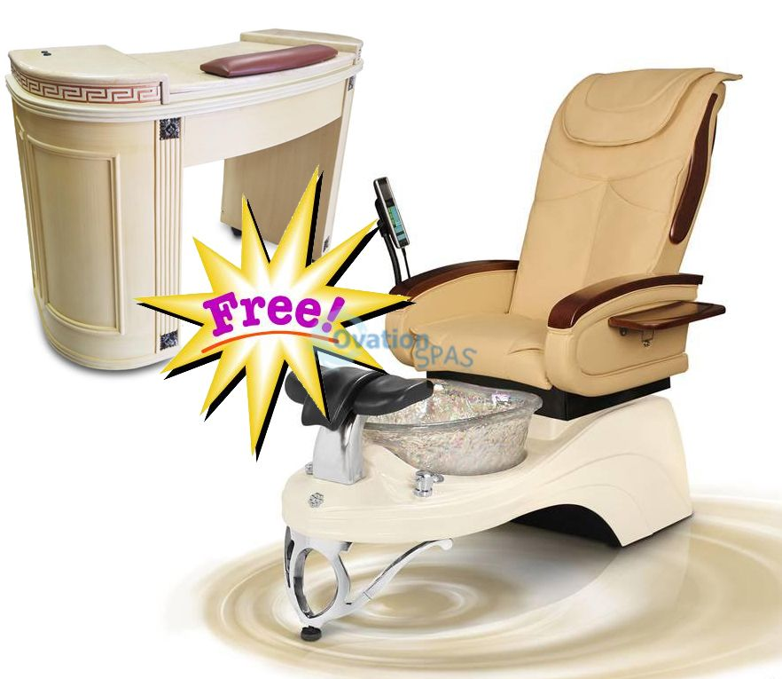 Free Manicure Table with Pedicure Chair NT#6