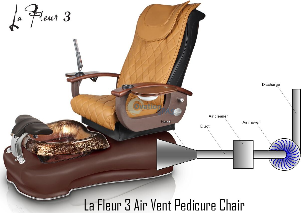 GS La Fleur 3 Air Vent Pedicure Spa Chair