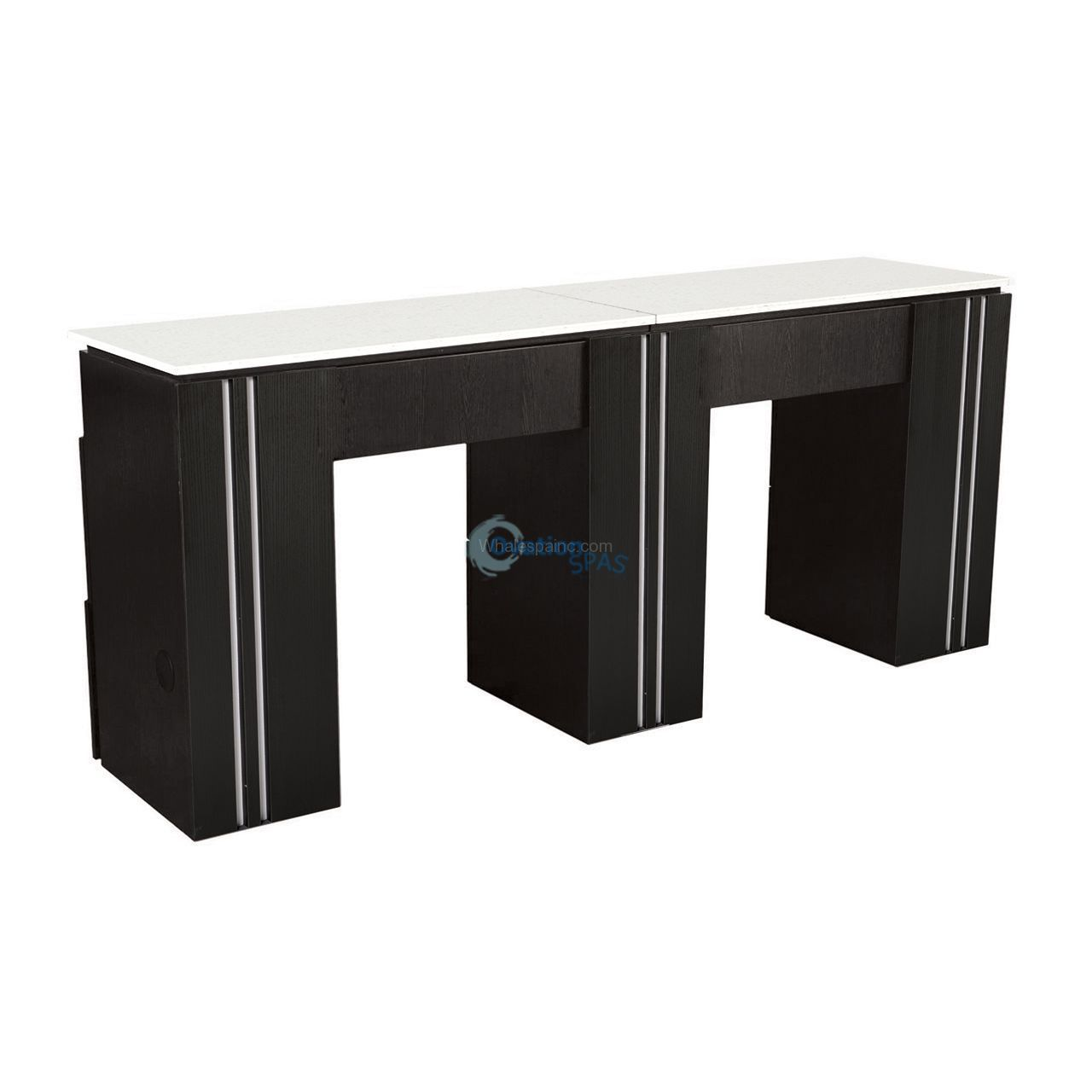 NM906 Double Manicure Table - Black / White