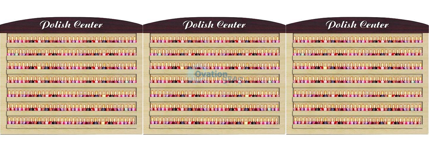 Verona Triple Nail Polish Racks