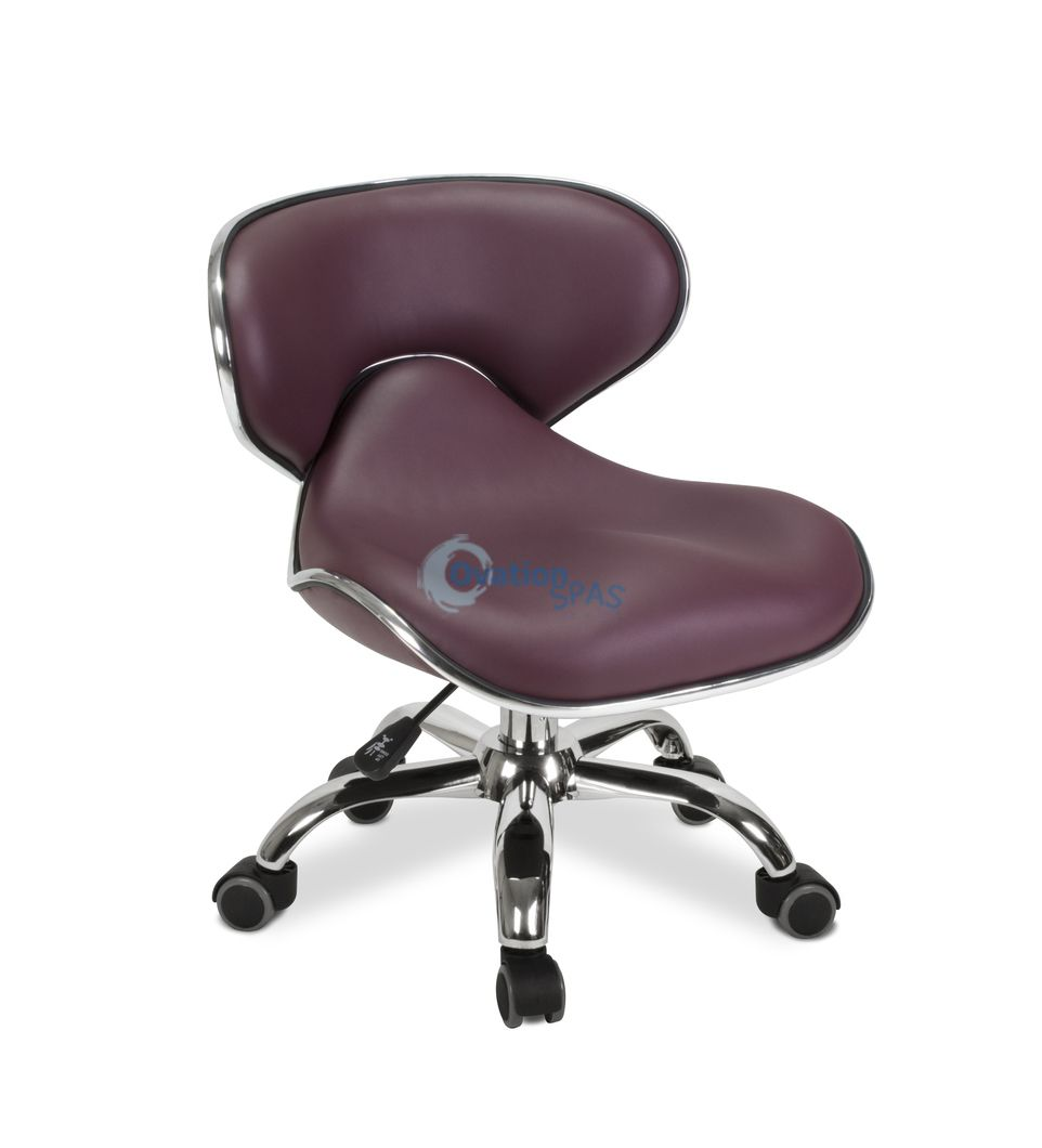 Pedicure Stool P002 (Burgundy)