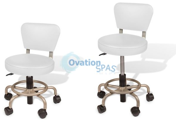 Euro Stool (Manicure & Pedicure) White