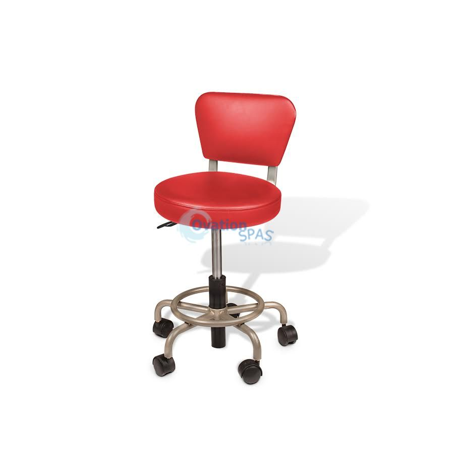 Euro Stool (Manicure & Pedicure) Red