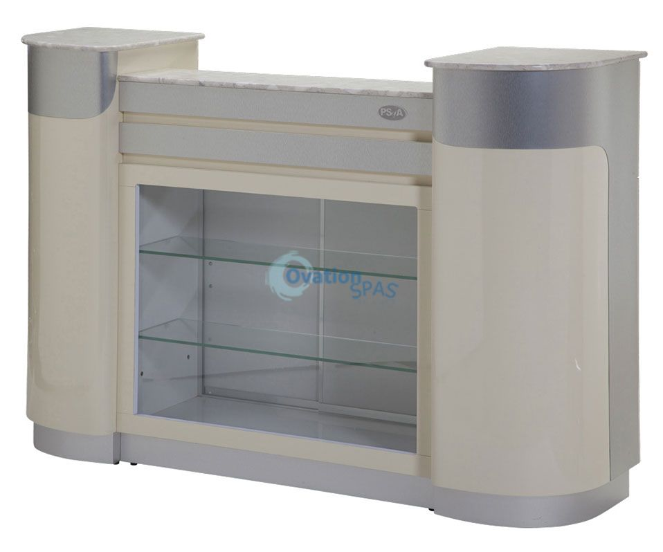 Reception Desk C-108 (Beige/Aluminum)