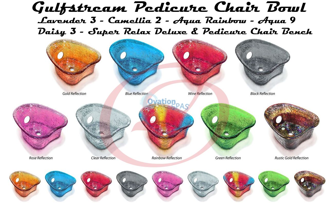 Heart Shape Glass Bowl for Gulfstream Pedicure Chair
