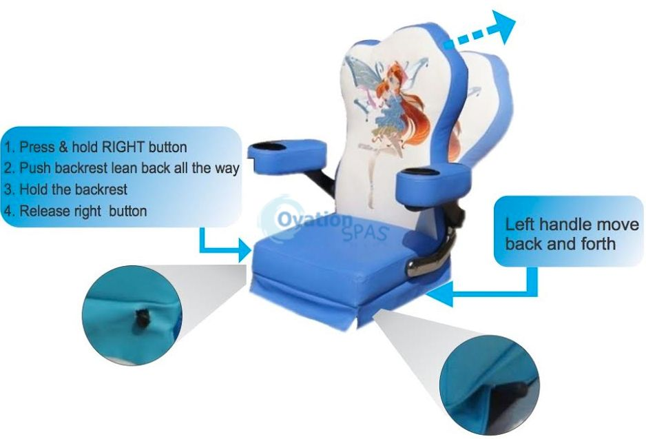 Princess #4 Kid Pedicure Spa Chair