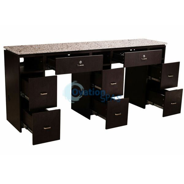 NM903 Double Manicure Table with UV Gel Hold
