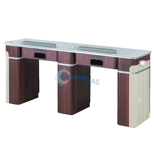 "IQ 90 Nail Station Double 69"" with Vent Pipe"