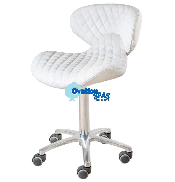 Lexi Technician Stool - White