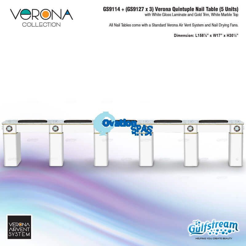 Verona Quintuple Nail Table (5 Units)