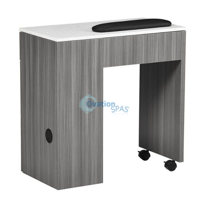NM904 Space Saving Manicure Table - Grey / White