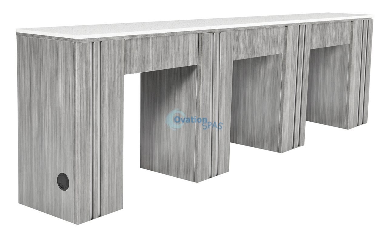 NM906T Triple Nail Table - Grey / White