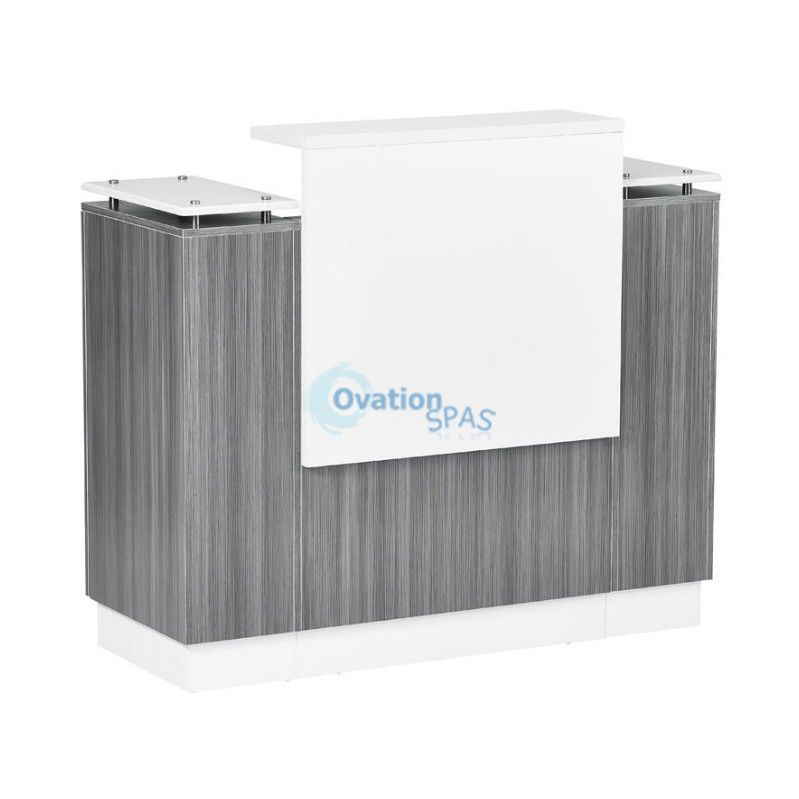 SC06 Reception Desk - Grey / White