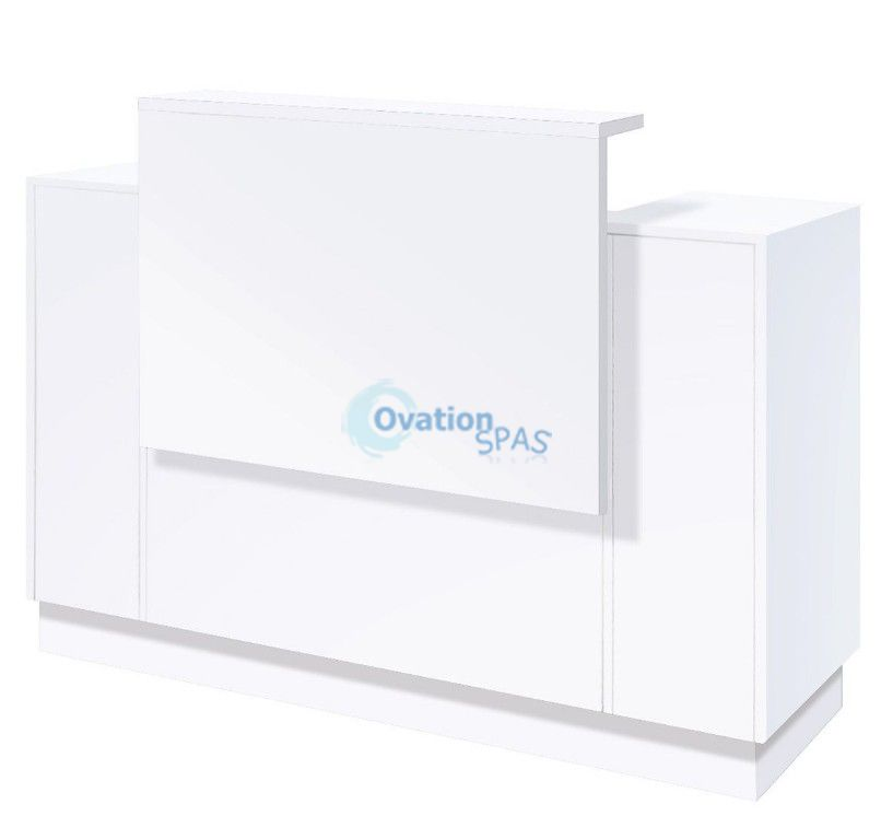 SC06 Reception Desk - White / White