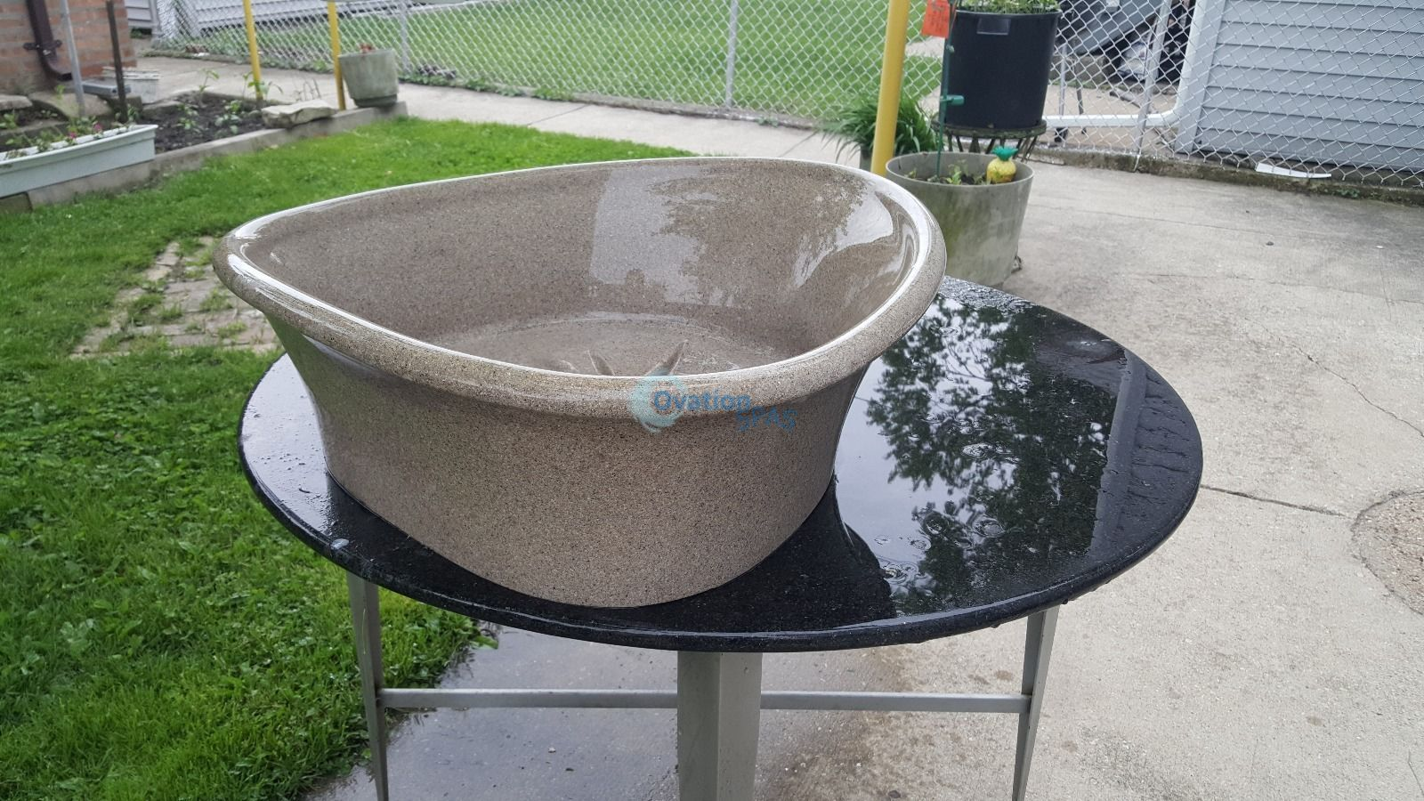 European Touch Pedicure Spa Cultured Stone Bowl