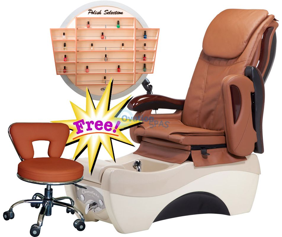 Free Polish Rack with Pedicure Chair PR#1
