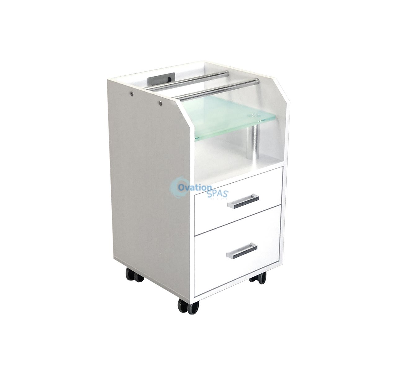 Glasglow Accessory Cart (White)
