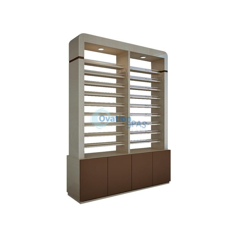 2 Sided Polish Rack with Cabinet