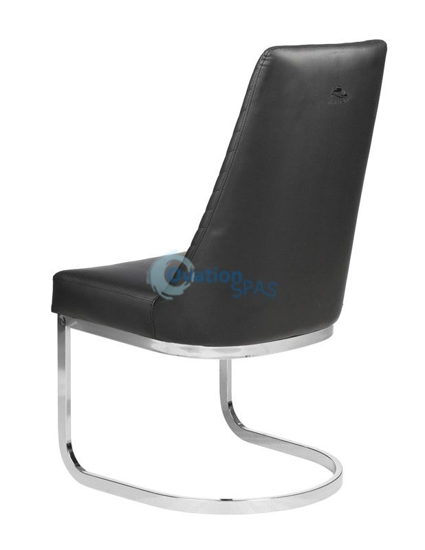 Customer Chair Black Chervon 8110