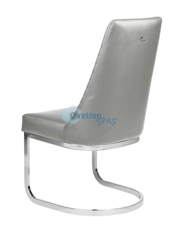 Customer Chair Grey Chervon 8110