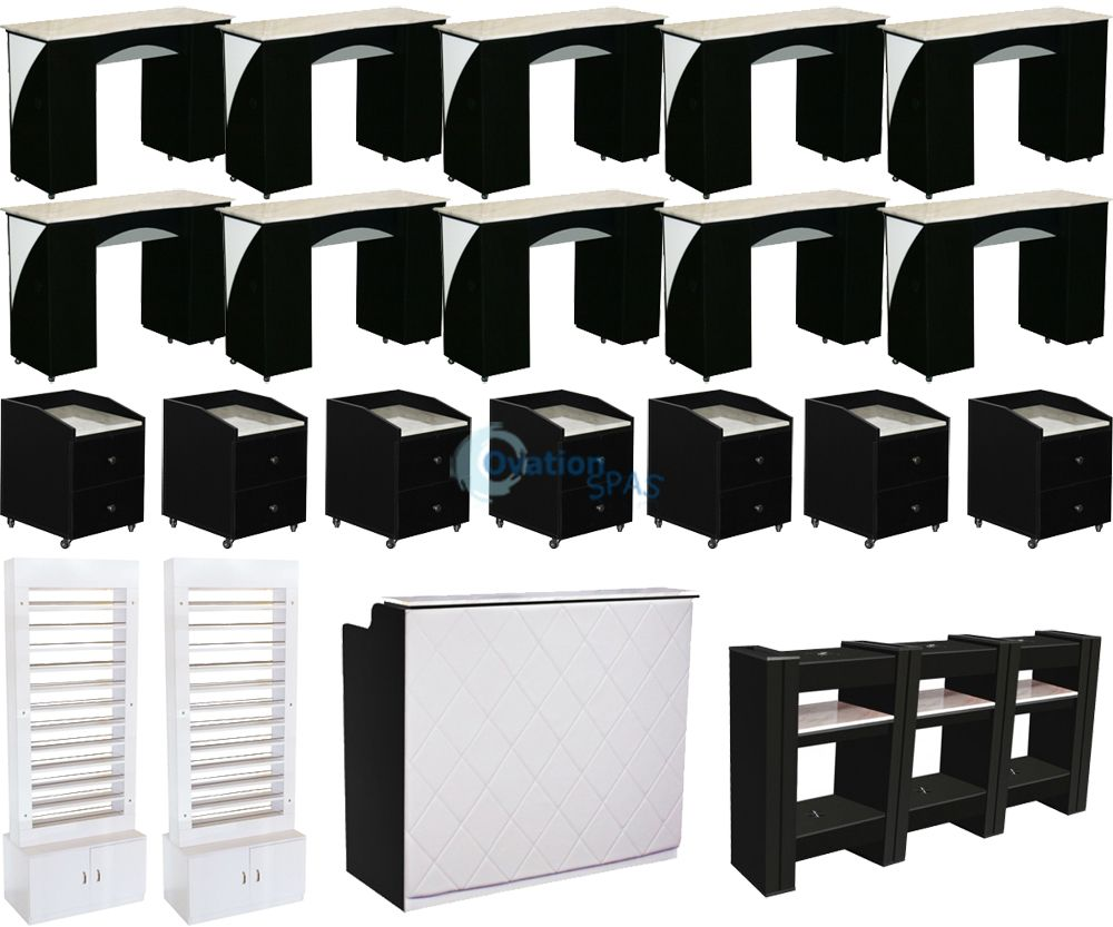 Black & White Salon Furniture Collection