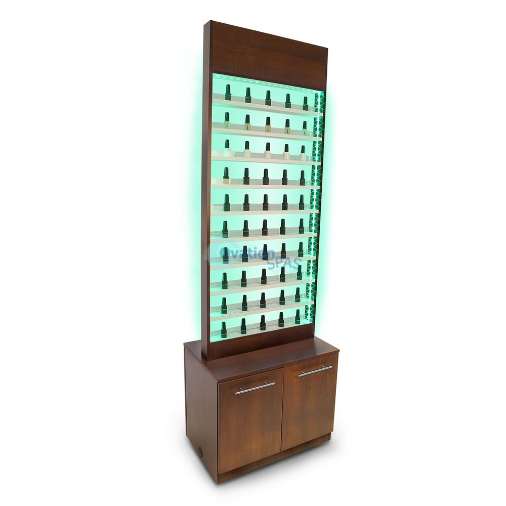 Paris LED Double Polish Rack with Cabinet