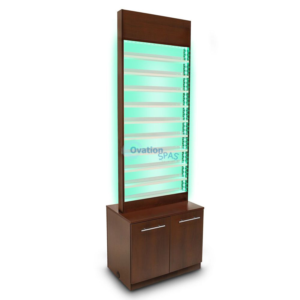 Paris LED Nail Polish Rack with Cabinet