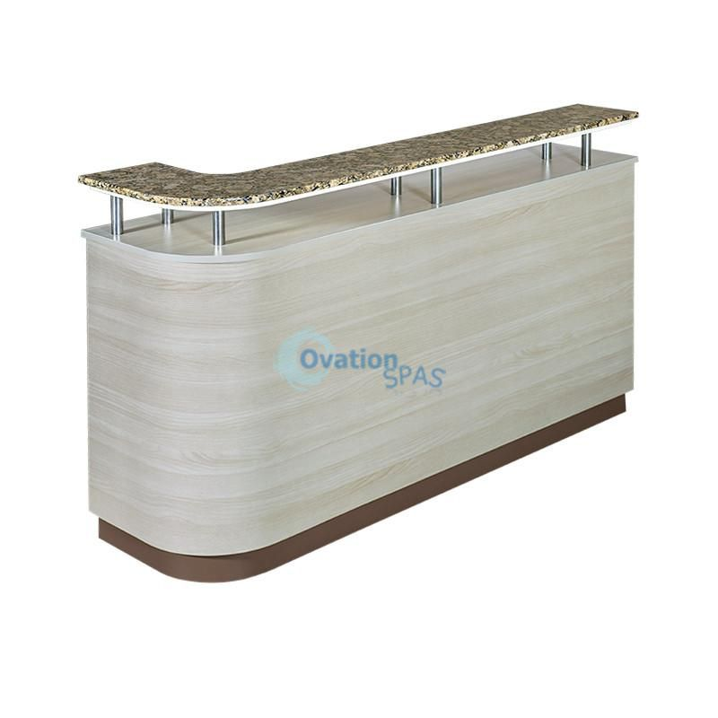 OS2 Reception Desk with Side Cabinet