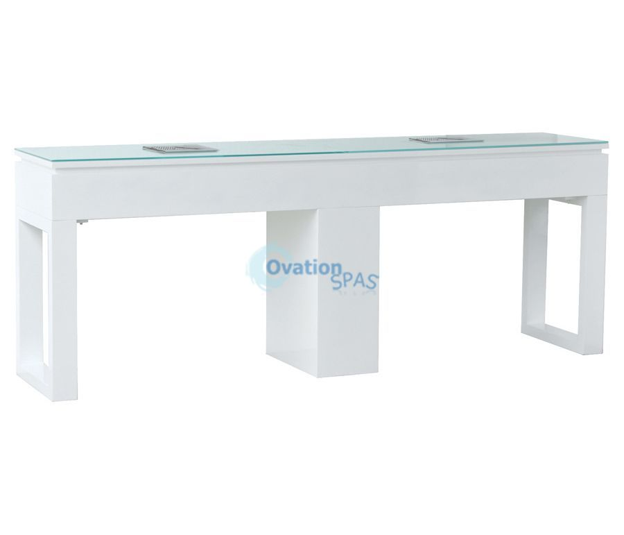 Valentino Lux Double Nail Table - White