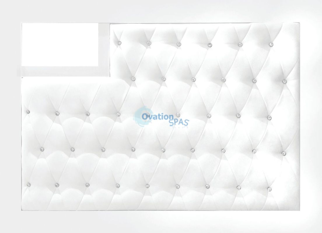 Valentino Lux Diamond Tufted Reception Desk