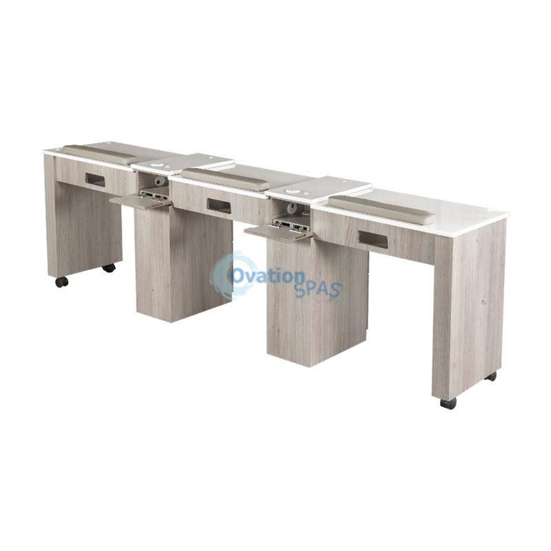 Triple Nail Table Manicure Table