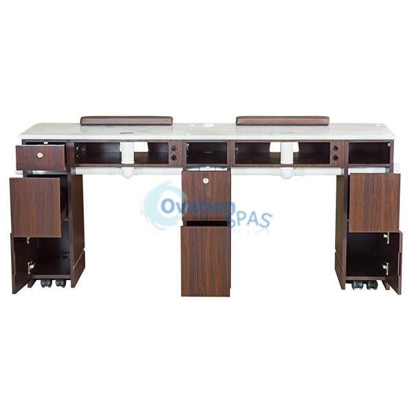"OS3 Nail Table Double Station 71"" with Ventilation Pipe"