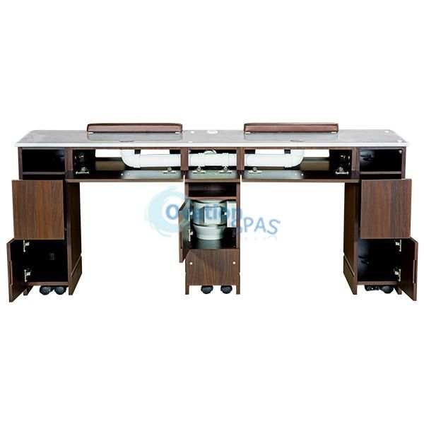 """OS3 Nail Table Double Station 72"""" with Ventilation System"""