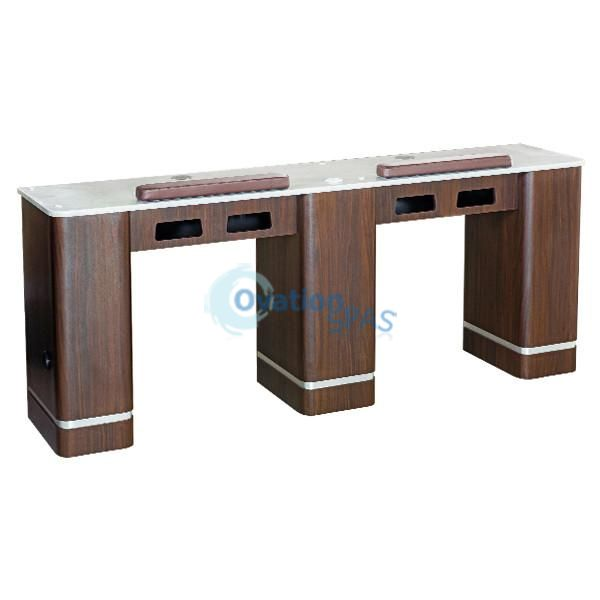 "OS3 Nail Table Double Station 72"" with Ventilation System"