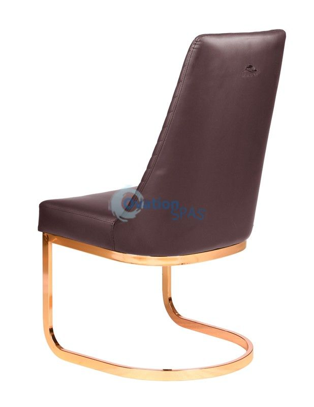 Customer Chair Chocolate Chervon 8110RG - Rose Gold