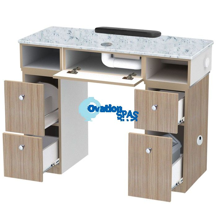 Nova 2 Manicure Table with Vent Pipe