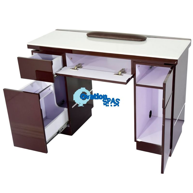 OS1 Cafelle Nail Table with LED Hole