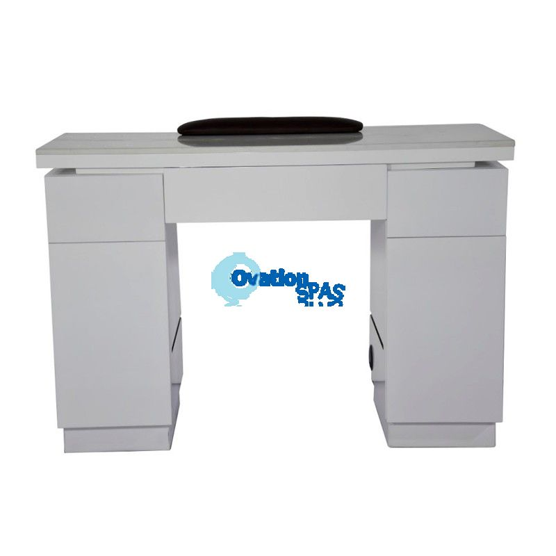 OS1 White Nail Table with LED Hole