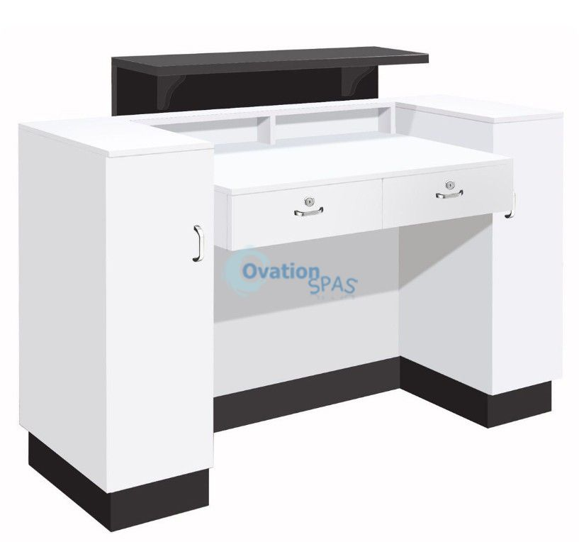 SC06 Reception Desk - Black / White