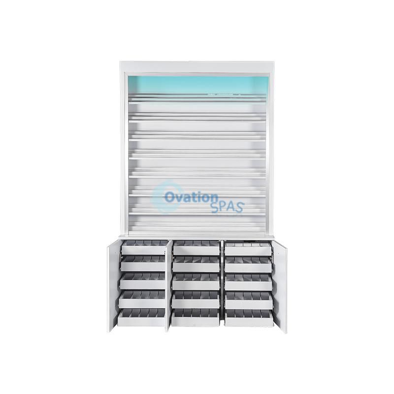 V Polish / Gel / Powder Rack Cabinet (w/LED Light) #6